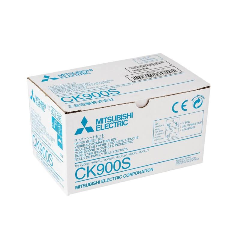CK900S Papier inkl. Farbträger für Medzindrucker