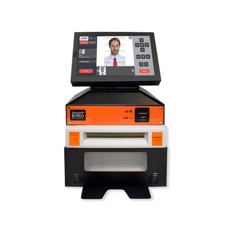 SMART D70ID PLUS Passbildsystem komplett mit Fotodrucker