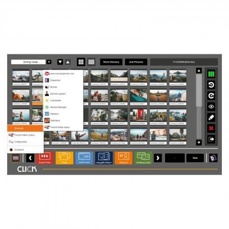 CLICK Système professionnel de gestion de photos menu